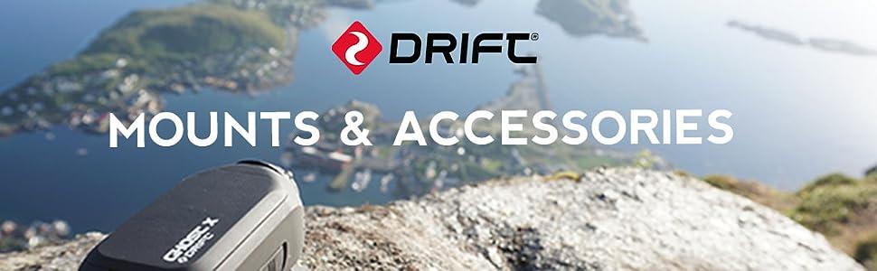 Drift Innovation Roll Bar Mount 30-012-00 Drift Ghost Action Camera Ghost X Ghost 4K Helmet Camera