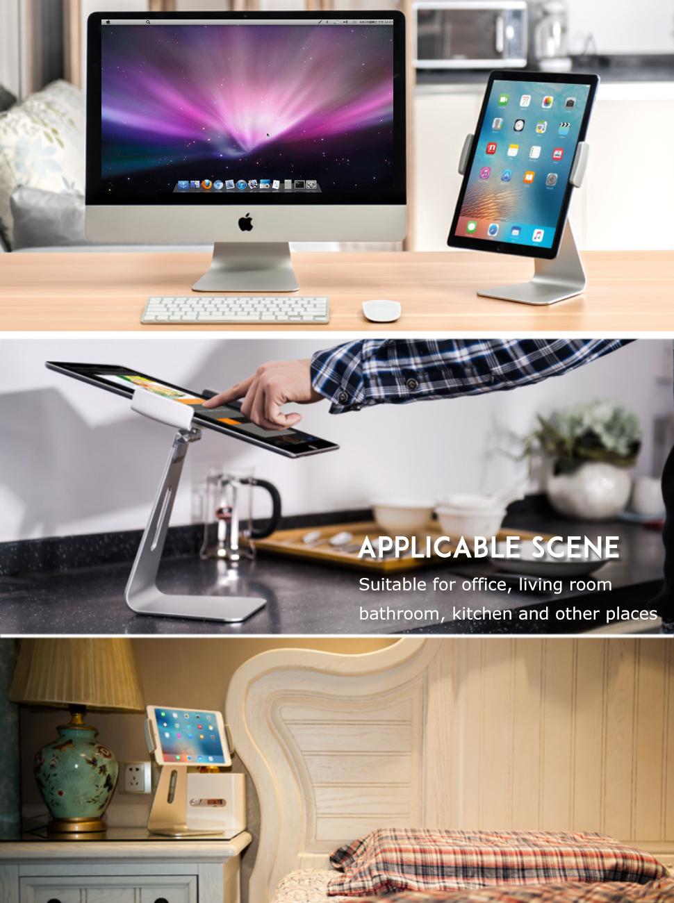 Kitchen Tablet Mount Stand Ipad Stand Adjustable Desktop Tablet Stand Holder Dock