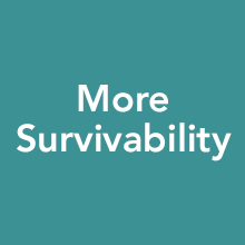 More survivability