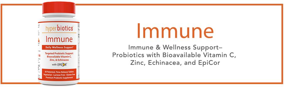 Hyperbiotics Immune bottle