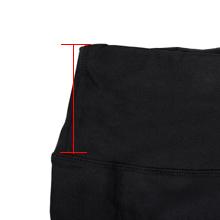 High rise waistband for tummy control.