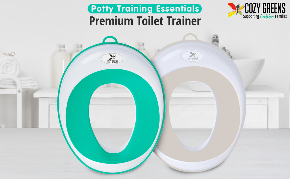 Cozy Greens® Potty SeatKids Toilet Training Ring for Boys or Girls