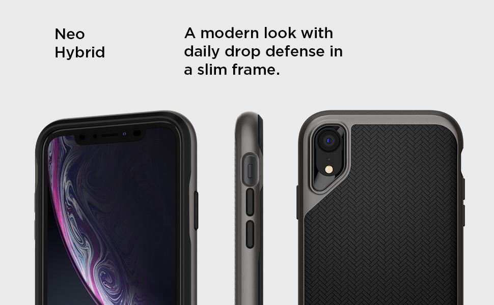 best loved a79b4 ffc3a Spigen Neo Hybrid Designed for iPhone XR Case (2018) - Gunmetal