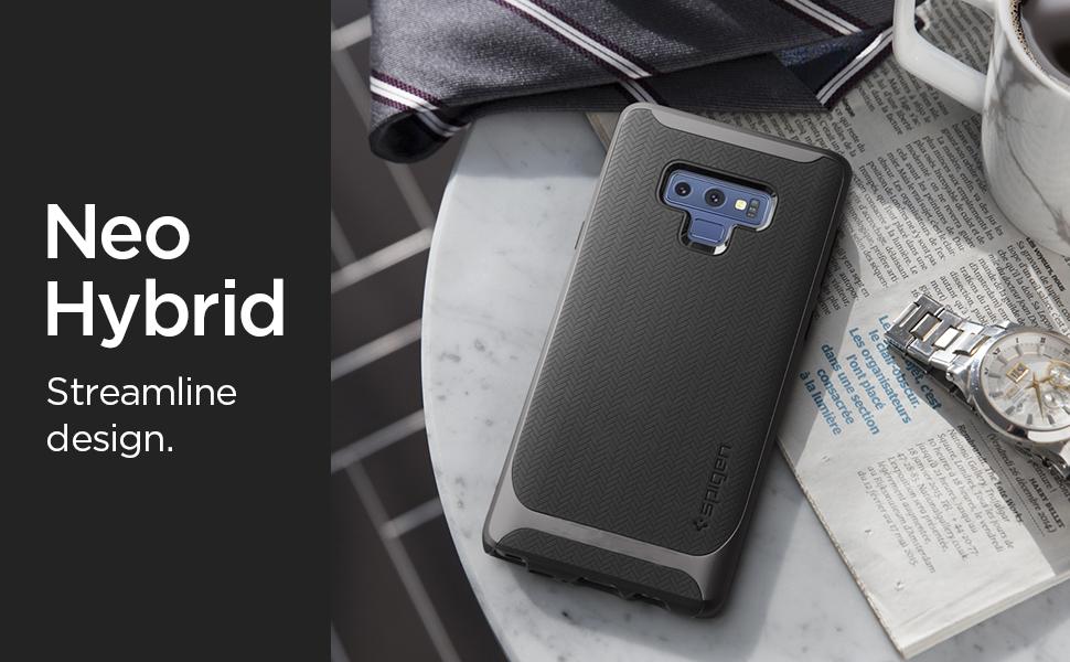 sports shoes ef742 452ff Spigen Neo Hybrid Designed for Galaxy Note 9 Case (2018) - Gunmetal