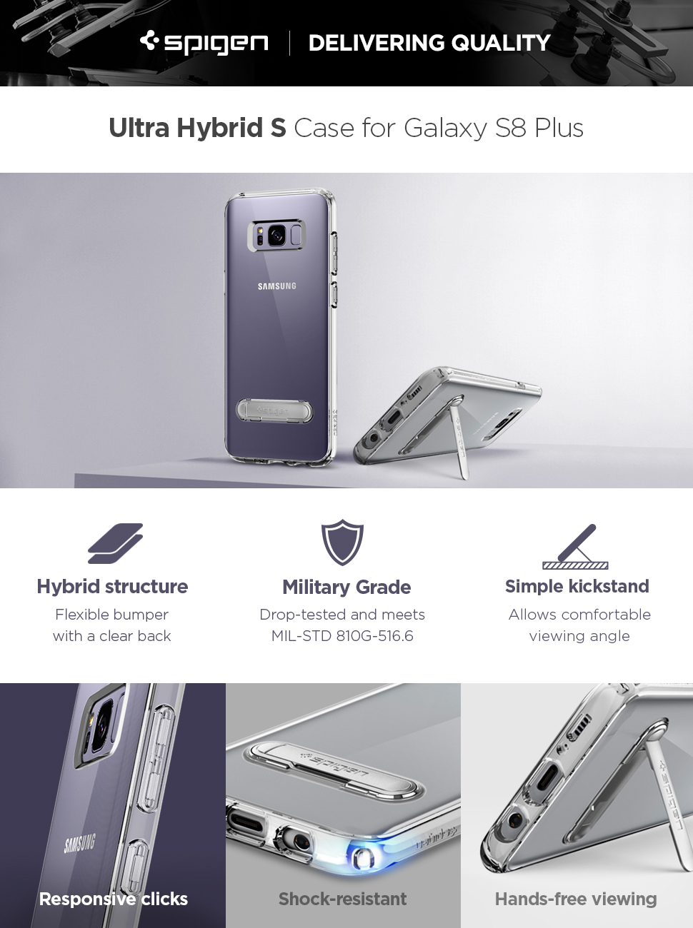 Spigen Ultra Hybrid S Galaxy S8 Plus Case With Air Series Samsung Note 8 Original Crystal Clear Looking For