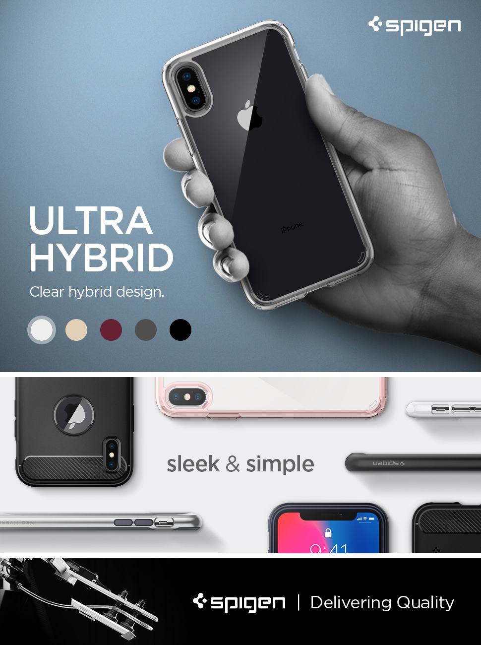 spigen 057cs22127 ultra hybrid designed for iphone xs case 2018