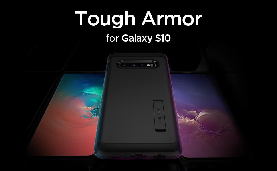 74444c9315af2 Spigen Tough Armor Designed for Samsung Galaxy S10 Case (2019 ...