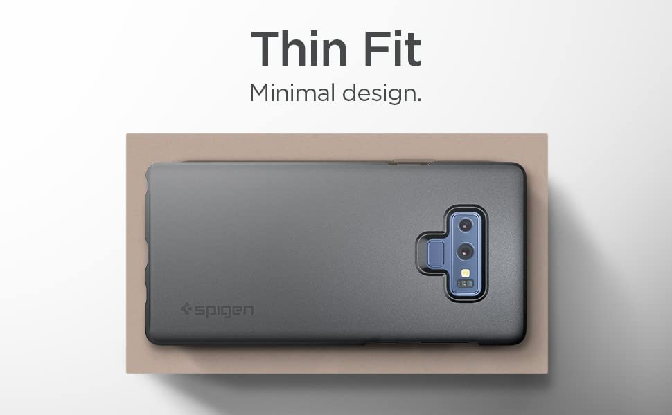 Spigen Thin Fit Designed for Galaxy Note 9 Case (2018) - Graphite Gray