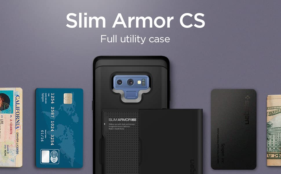 finest selection 3911c 63172 Spigen Slim Armor CS Designed for Galaxy Note 9 Case (2018) - Black