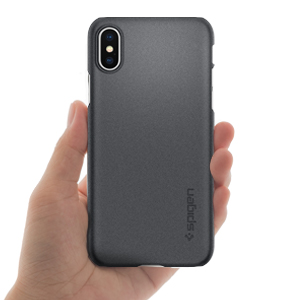 huge discount 759d7 d8f97 Spigen Thin Fit Designed for Apple iPhone Xs Case (2018) / Designed for  Apple iPhone X Case (2017) - Graphite Gray