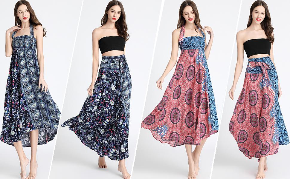 Boho 2 in 1 Skirts & Dresses