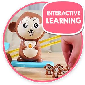 juguetes para niños monkey balance math game homeschool preschool