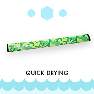 """Picture of Green Grass Yakgrip SUP Grip for Paddles next to the word """"Quick-Drying""""."""