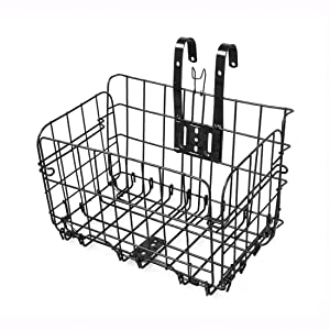 Folding Metal Wire Basket Bicycle Bike Storage Carrier Holder Hanging Front Rear