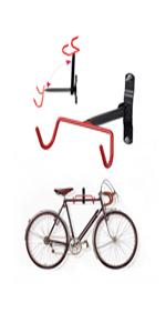 Bicycle Wall Holder ethatec Folding Bike Rack Single Wall Bracket Wall Mount