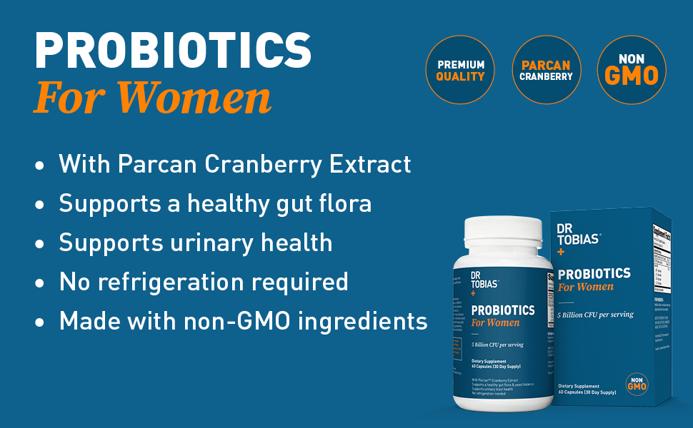 probiotics, womens health, women, probiotics for women, prebiotics, cranberry, health, dr tobias