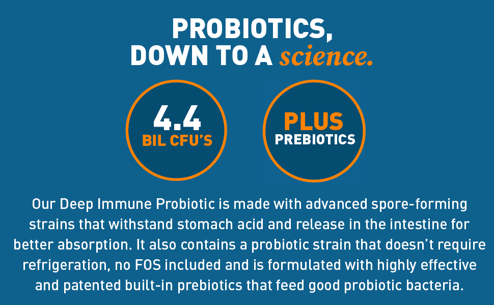 dr tobias, deep immune, probiotic, probiotics, prebiotics, supplements, gut health, immune system