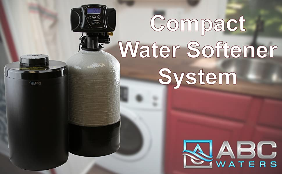 ABCwaters Built Compact Fleck 5600sxt 16k Water Softener System