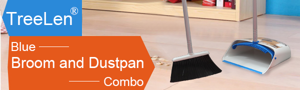 Blue Broom and Dustpan Set