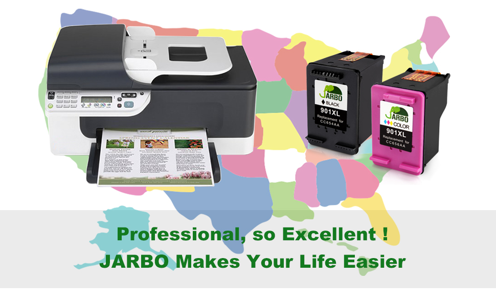 Amazon.com: JARBO - Cartucho de tinta reciclado 901 para HP ...