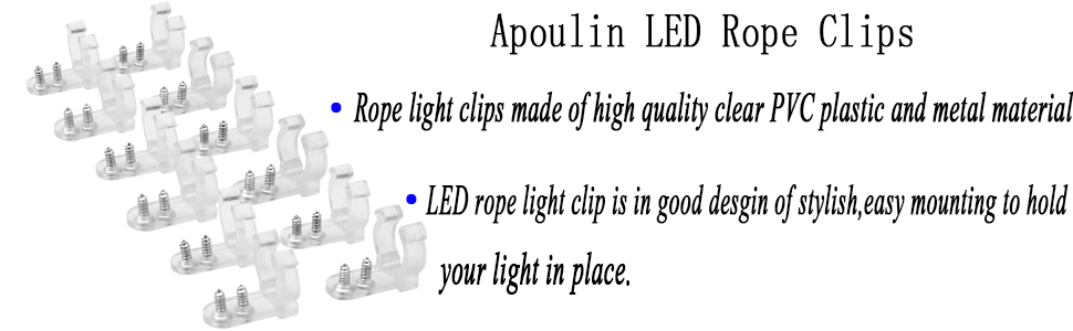 Amazon apoulin led rope light clips holder 100pack 12 read more aloadofball Images