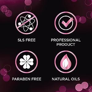 SLS مجانا ، والزيوت الطبيعية