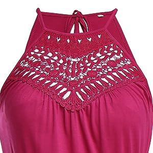 3d496d735bcb CROSS1946 Women s Halter Neck Floral Lace Maxi Dresses Summer ...
