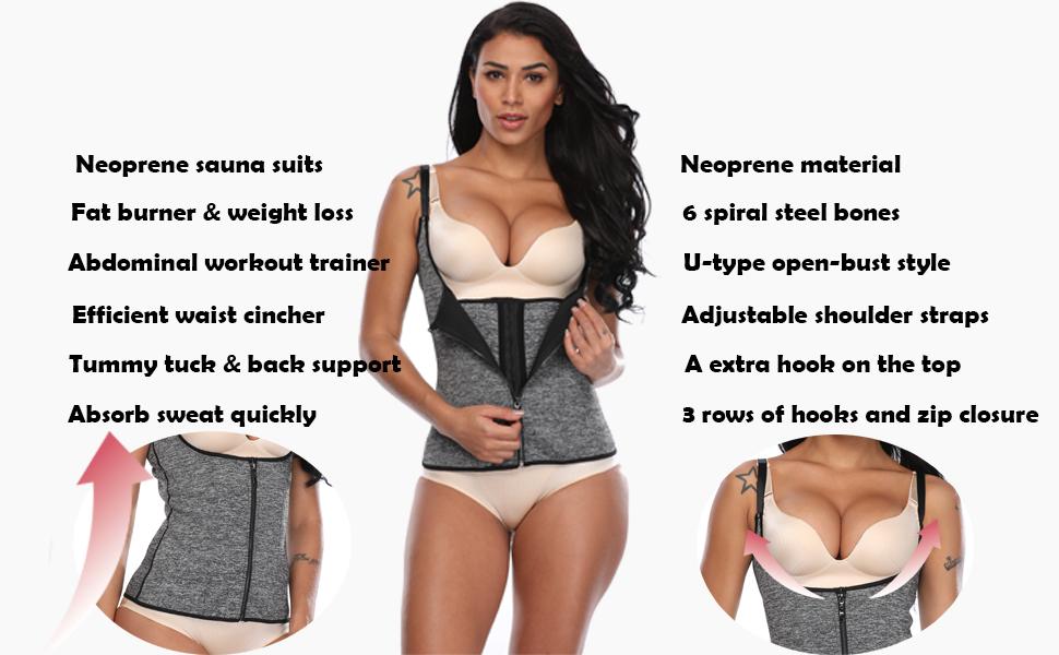 5202699253 MISS MOLY Waist Cinchers Shaper Vest Tummy Control Shapewear ...