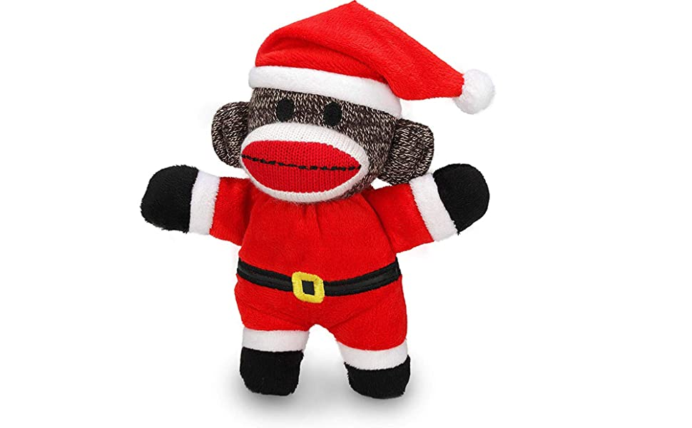White Socks With 3 Cute Monkeys Design Lovely Birthday or Christmas Gift