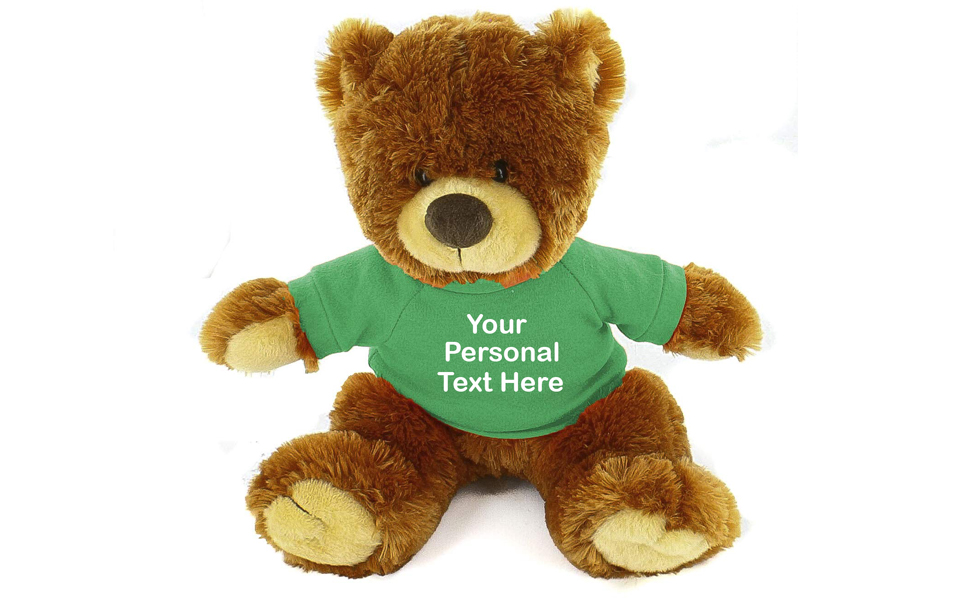 """Personalised Embroidered Honey Soft Teddy Bear Toy 10/"""" Birthday Gift"""