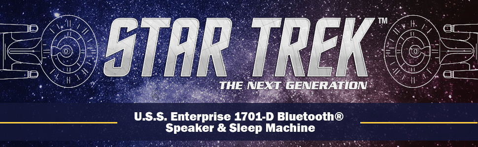 Star Trek USS Enterprise 1701-D – Enterprise Replica Bluetooth Speaker,  Engine Noise Sleep Machine, Night Light, Sound Effects – Memorabilia,  Gifts,