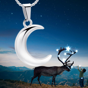Crescent Moon Urn Necklace