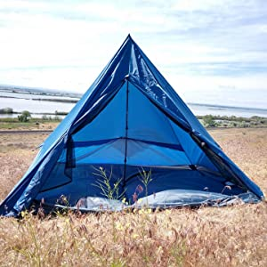trekking pole tent, quick setup tent, lightweight 4 man tent, 4 person backpacking tent, easy tent