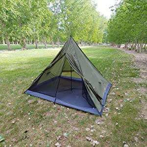 trekking pole tent, 4 person backpacking tent, large backpacking tent, lighweight 4 man tent