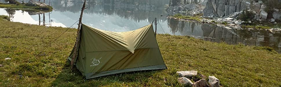 Use tent with any two sticks