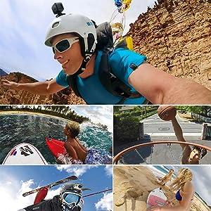 Aketek 4pcs Curved+4pcs Flat Adhesive Mounts Sticky for GoPro Hero Cameras
