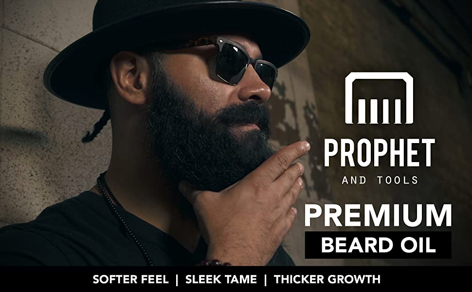 prophet and tools best beard oil beardcare mens grooming kit comb scissors razor balm wax supplement