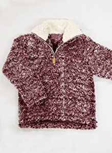 Amazon.com: ZESICA Girls Kids 1/4 Zip Pebble Pile Sherpa