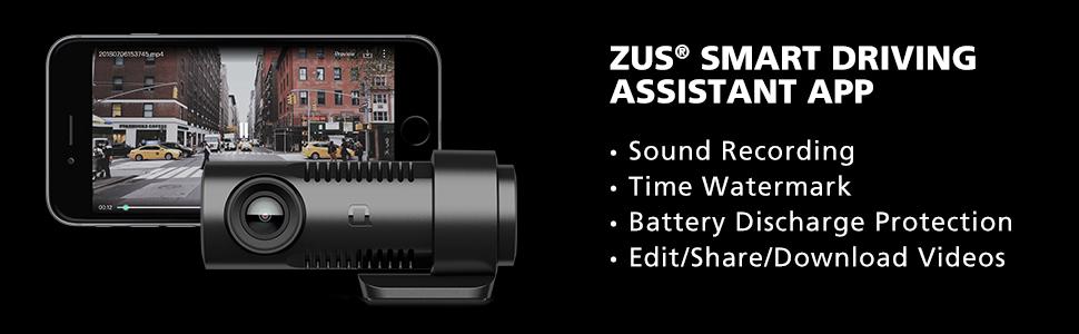 Amazon.com: nonda ZUS Smart Dash Cam with ZUS App, Front ...