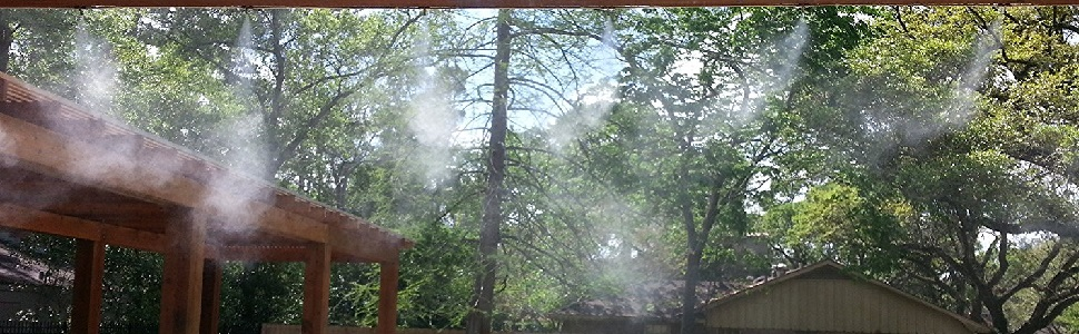 Gazebos Leak Proof Misting System- Misters for Patio Pool and Play Areas Backyard Cooling 33ft-3//8 tubing