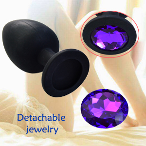 Silicone Jeweled Hmxpls Personal Massager Anal Butt Plugs