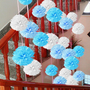 Amazon 18pcs tissue hanging paper pom poms hmxpls flower ball these easy diy paper flower pom poms bring your paper flower from floor to ceiling use it in for a lightweight hassle free party decoration mightylinksfo