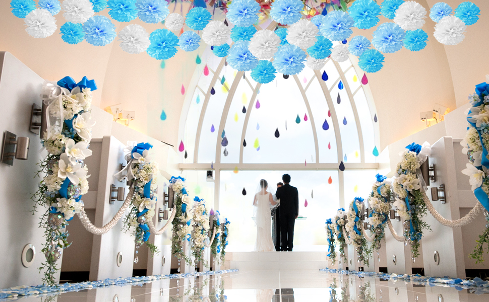 Patrick Day Decoration for Irish Festival Birthday Wedding Fiesta VALICLUD 1 Set Hanging Paper Fans Tissue Paper Pom Pom Flower Decorative Flower Balls St