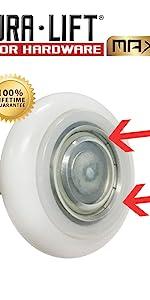 DURA LIFT DURALIFT ULTRA LIFE MAX 7 in Stem 6200ZZ Bearing sealed nylon garage door roller Seal