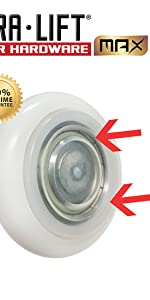 DURALIFT DURA LIFT ULTRA LIFE MAX nylon garage door roller 6200ZZ Bearing 4 in stem sealed seal