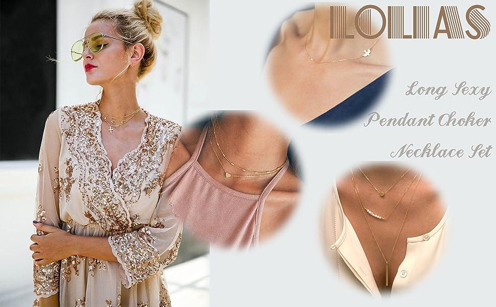 Amazon Com Lolias Choker Necklace Y Necklaces For Women Girls Boho