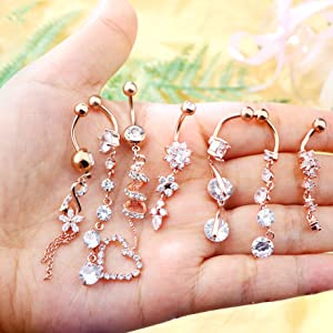 rose gold belly button rings surgical steel belly button rings belly button piercing belly