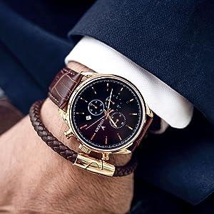 31f7d26d2 Amazon.com: Vincero Luxury Men's Chrono S Wrist Watch — Rose Gold ...