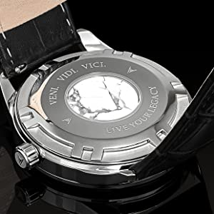 Italian Marble Caseback Mens Luxury Watch