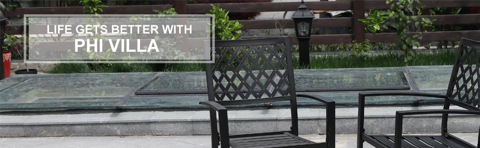 Amazon.com: PHI VILLA - Silla giratoria con cesta: Jardín y ...